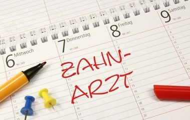 Kalender Stift Zahnarzt Termin