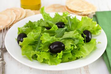 salad with black olives