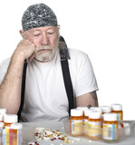 Tough old man with too many pills