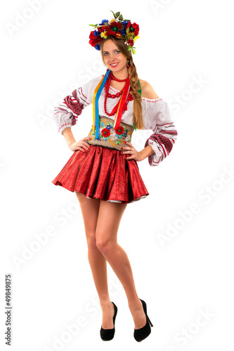 woman in the Ukrainian national clothes
