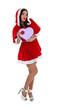 A sexy Mrs. Santa.