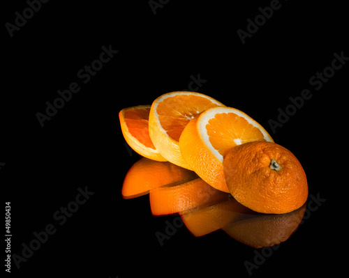 Foto op Aluminium Plakjes fruit Orange