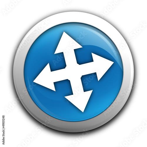directions sur bouton bleu