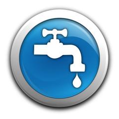 eau potable sur bouton bleu
