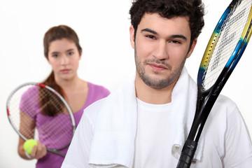 A tennis duo
