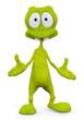 green alien tah dah