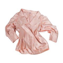 pink women blouse isolated on white
