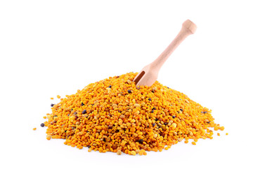 Pollen with wooden spoon