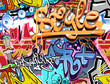 Graffiti wall. Urban art vector background. Seamless texture - 49853662