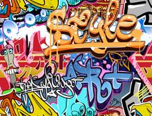 Mur de graffiti. Urban fond de vecteur de l'art. Texture transparente