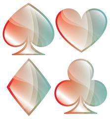 Glossy Playing Card Symbols