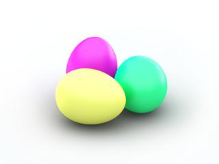3d Rendered Easter Eggs