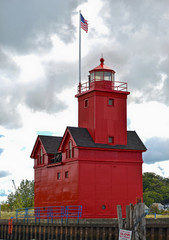 Lake Michigan Red Lighthouse