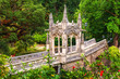 Gazebo on the ornate bridge of Quinta da Regaleira in Sintra