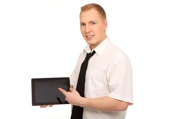 Geschäftsmann mit Tablet