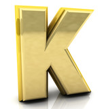 3d rendering of the letter k