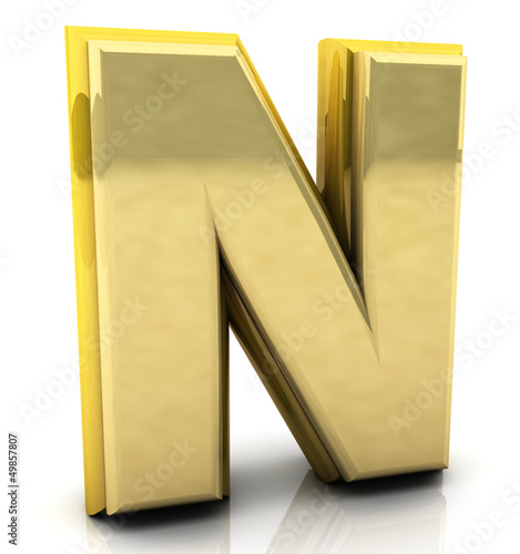 3d rendering of the letter n
