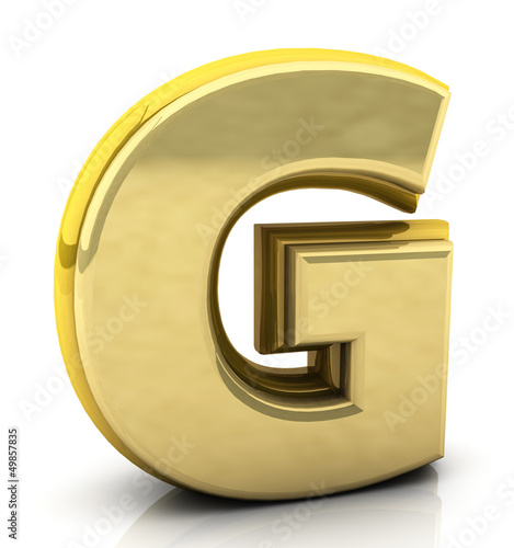 3d rendering of the letter g