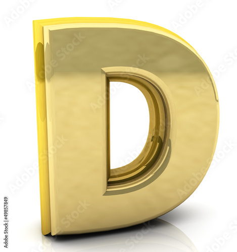 3d rendering of the letter d