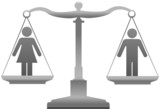 Gender equality sex justice scales poster