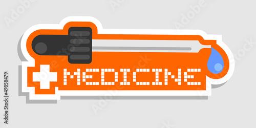 Medicine sticker