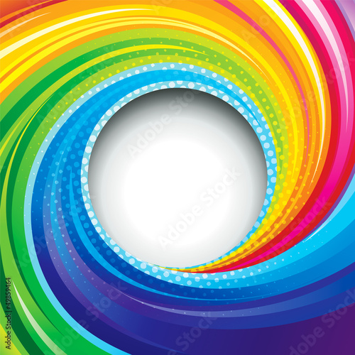 Abstract colorful swirl circle background.