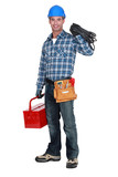 Man with tool box