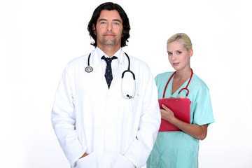 Doctor stood with nurse
