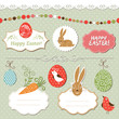 Easter set, vector easter elements
