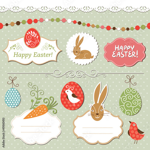 Easter set, vector easter elements