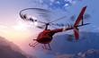 Leinwanddruck Bild - Civilian helicopter