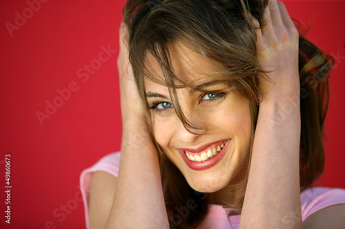 Young woman with bright smile