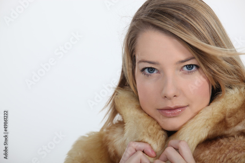 Woman in fur coat