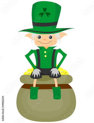 St. Patrick Day Leprechaun Boy