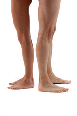 Frauen und Männerbeine