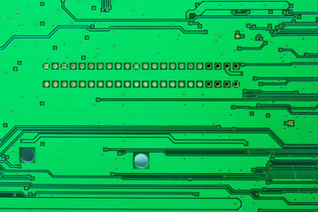 A part of the old electronic circuit boards background