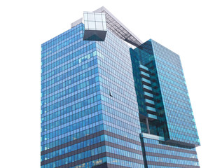One modern building isolatd on white