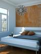 modernes Schlafzimmer im Altbau