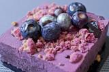 Gâteau myrtille lavande