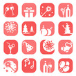 color christmas icon set