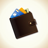 Wallet business icon