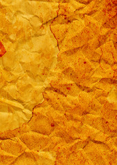 Red Orange Grunge Crinkled Background