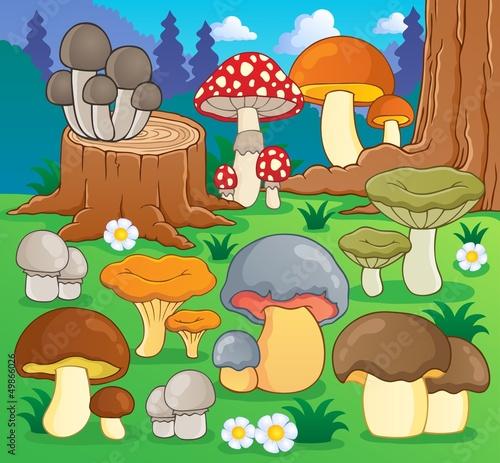 Staande foto Magische wereld Mushroom theme image 4