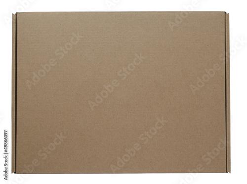 brown cardboard carton box