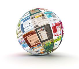 Webdesign Kugel rotiert, SEO, Templates