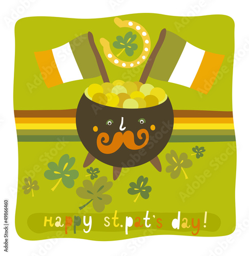 St.Patrick`s day colorful background