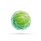 Vector Green Globe Background
