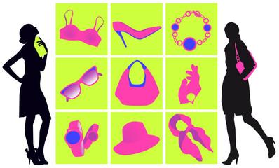 Shopping moda con accessori donna