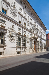 Bentivoglio palace. Ferrara. Emilia-Romagna. Italy.