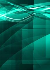 digital green artwork